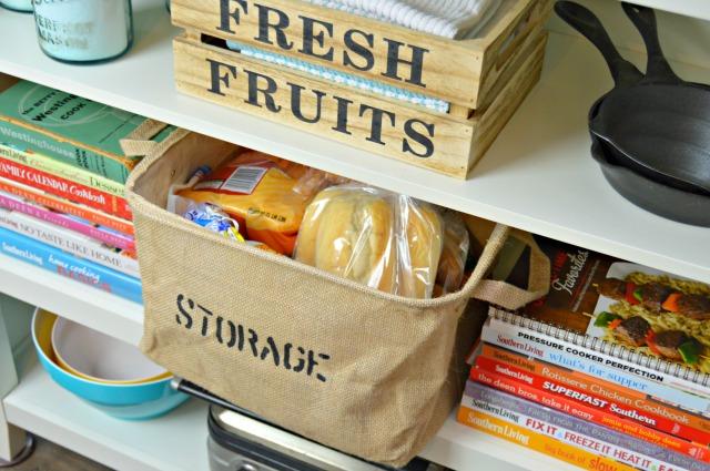 Burlap Storage Basket - Styled 3 Ways