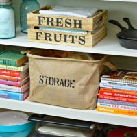 Burlap Storage Basket – Styled 3 Ways