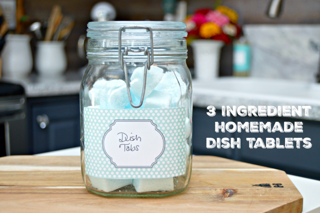 3 Ingredient Homemade Dish Tablets - Mom 4 Real