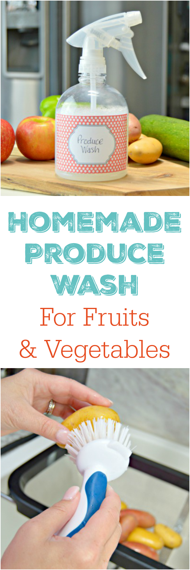 Homemade Produce Wash for Fruits and Vegetables - Chemical Free