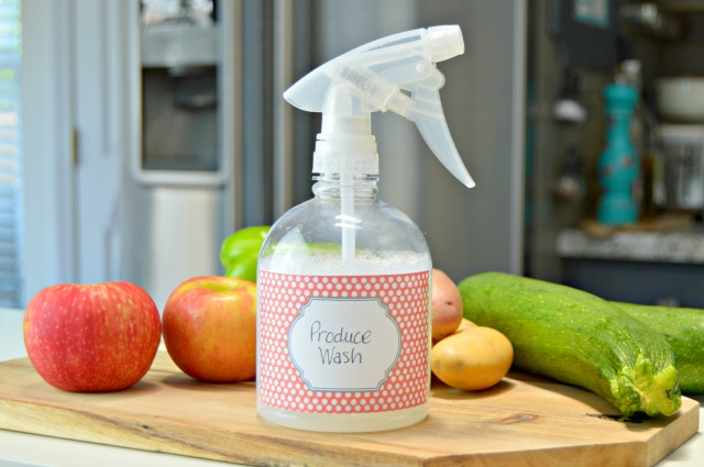 Homemade Produce Wash for Fruits and Vegetables