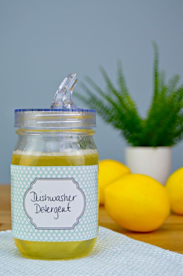 Elegant Homemade Liquid Dishwasher Detergent