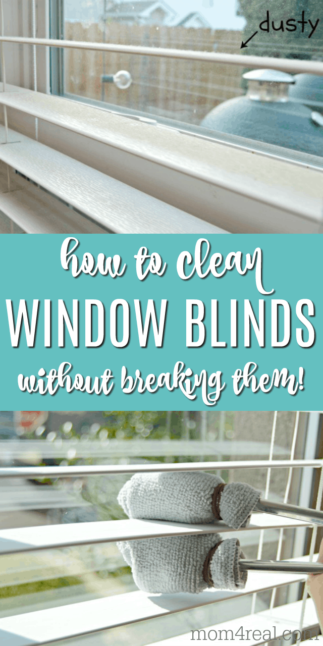 how to clean wood window blinds