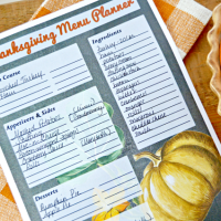 Printable Thanksgiving Meal Planner and Recipe Cards