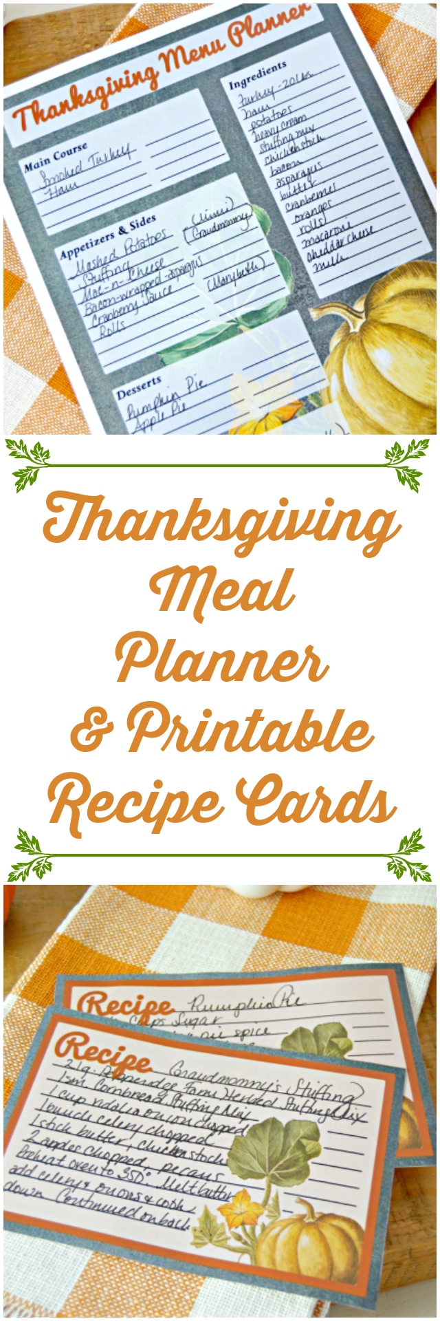 photo relating to Thanksgiving Planner Printable identified as Printable Thanksgiving Dinner Planner and Recipe Playing cards - Mother 4
