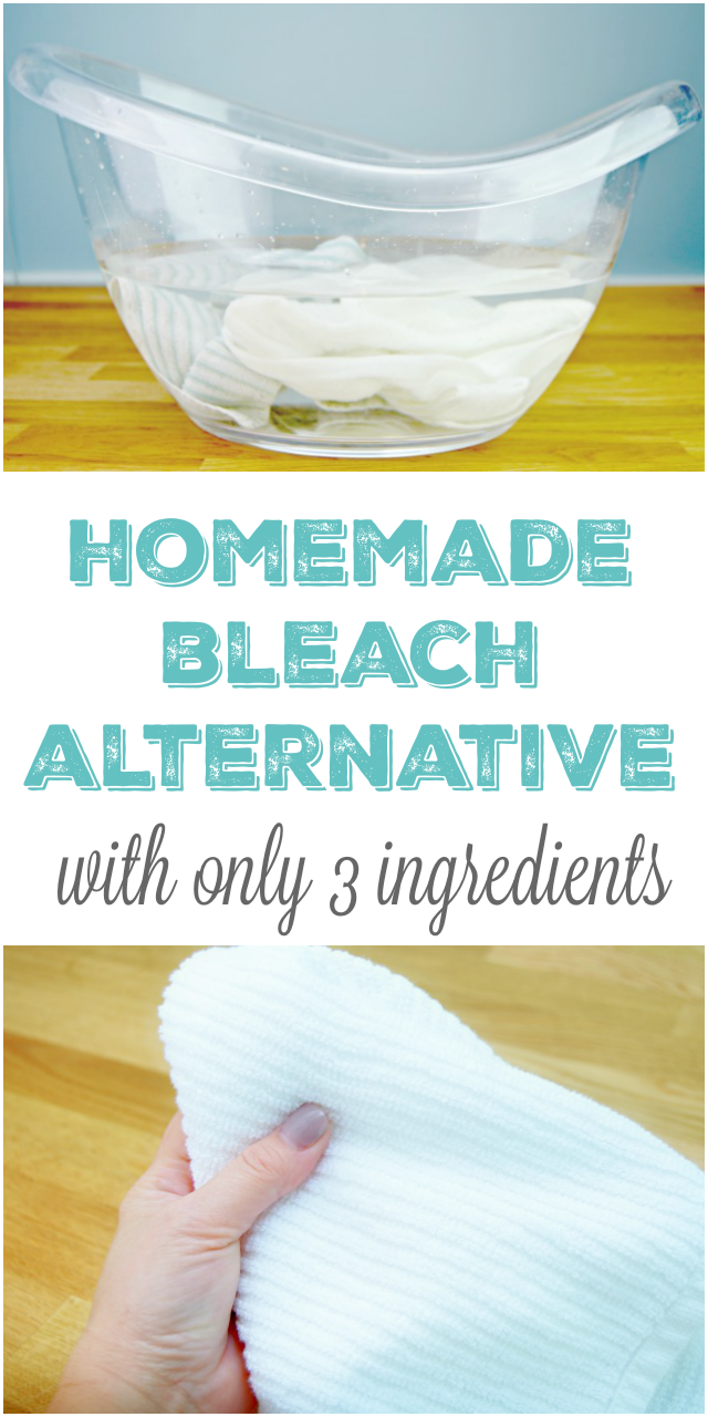 3 Ingredient Homemade Bleach Alternative / Whitening Solution
