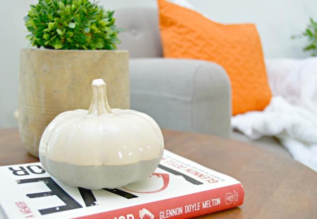 ceramic cement dipped pumpkin