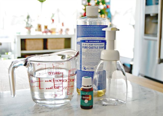 Homemade Peppermint Foaming Hand Soap