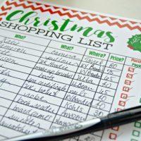 Freebie Printable Christmas Shopping List