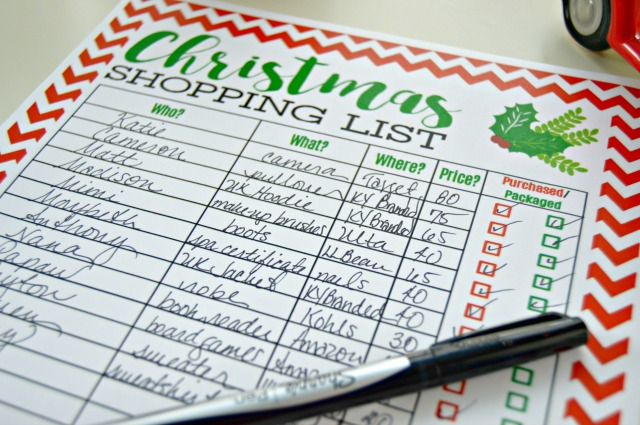 graphic relating to Christmas Gifts List Printable called Freebie Printable Xmas Purchasing Checklist - Mother 4 Correct