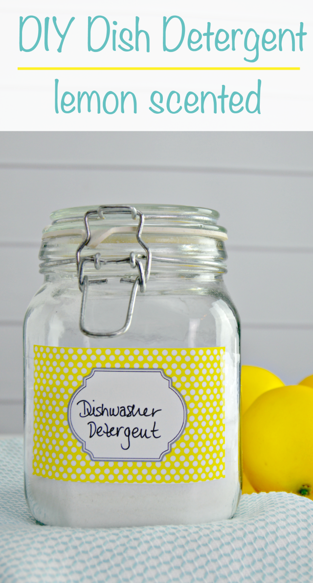 Lemon Scented DIY Dishwasher Detergent