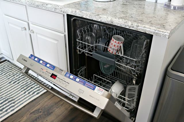 dishwasher with dishes inside