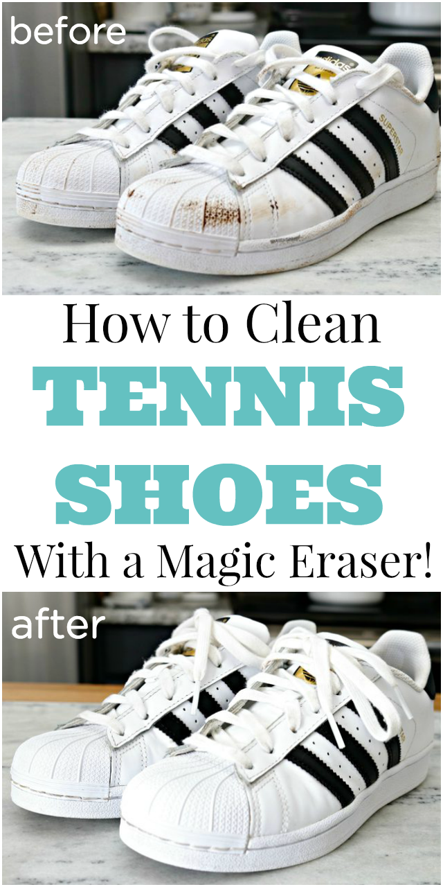 How to Clean Tennis Shoes with a Magic Eraser