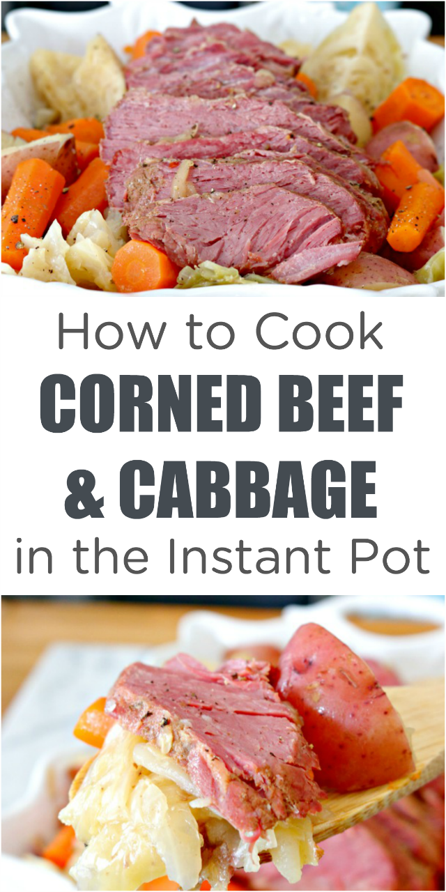 How to Cook Corned Beef and Cabbage in an Instant Pot