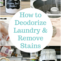 How to Deodorize Laundry and Remove Stains