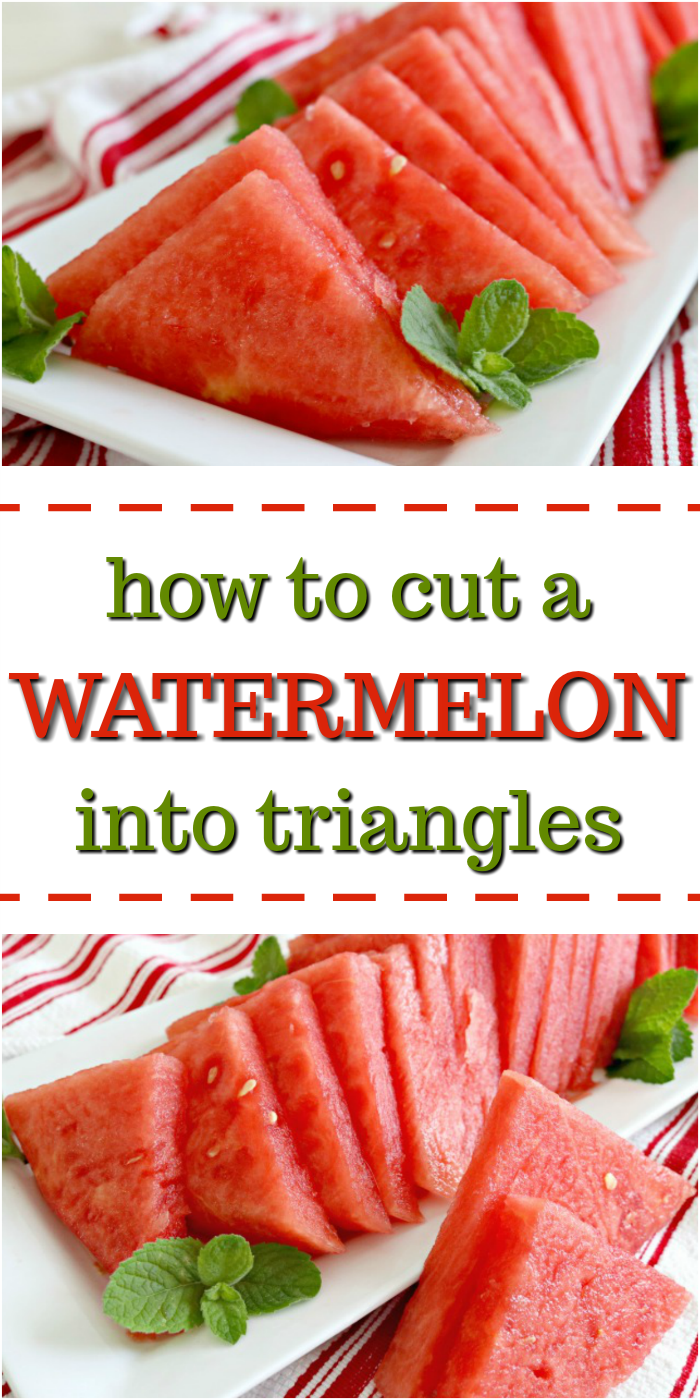 How to slice a watermelon for a party