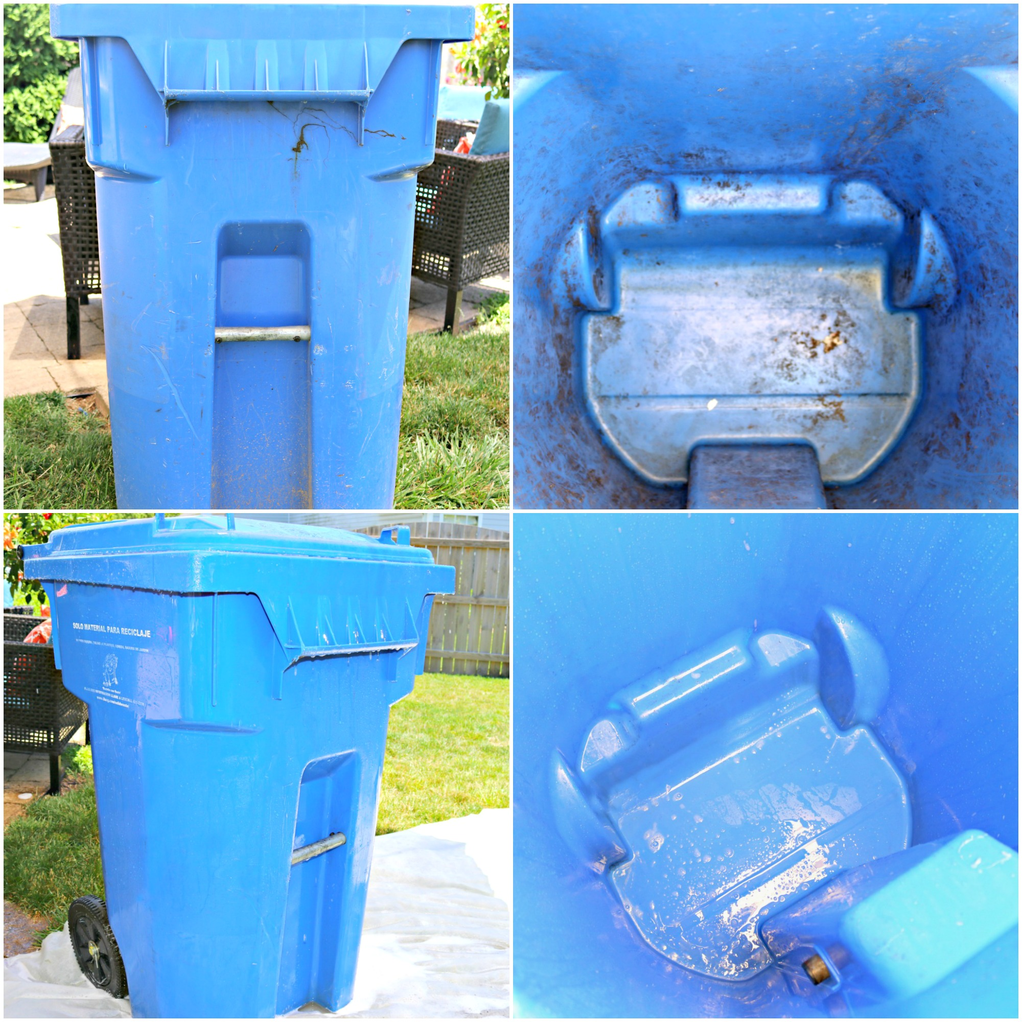 How To Clean Outdoor Garbage Cans And