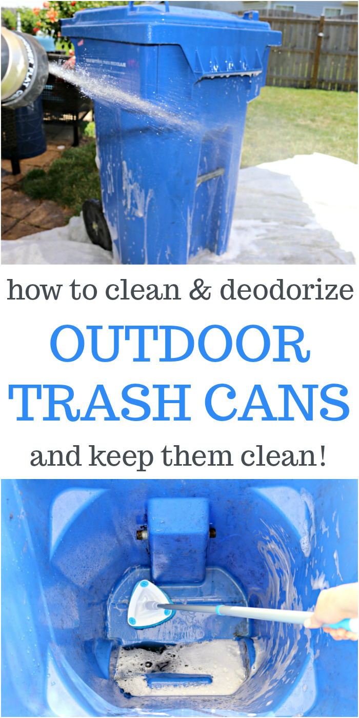 How to clean and deodorize outdoor trash cans and keep them clean