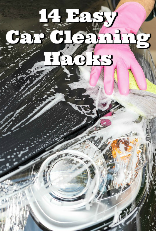 14 Easy Car Cleaning Hacks