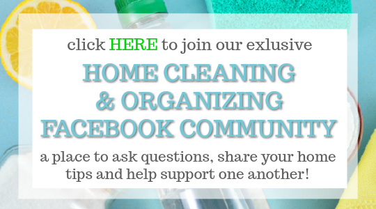 The Home Cleaning and Organizing Facebook Community