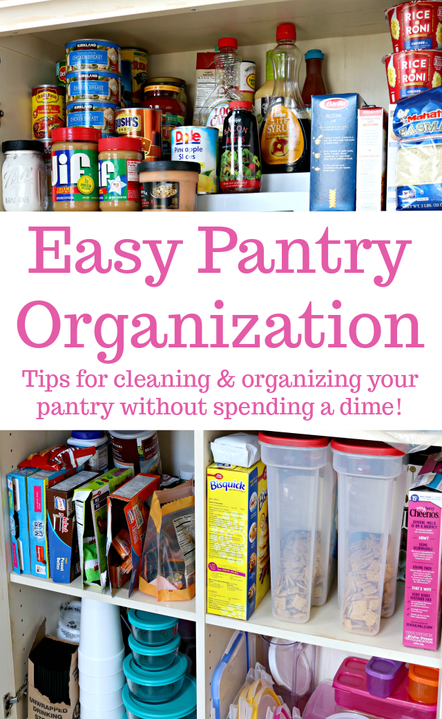Easy Kitchen Pantry Organization Tips
