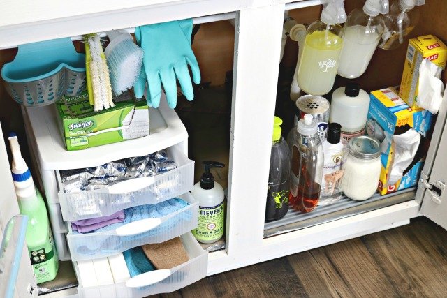 Under the Kitchen Sink Cabinet Organization Tips