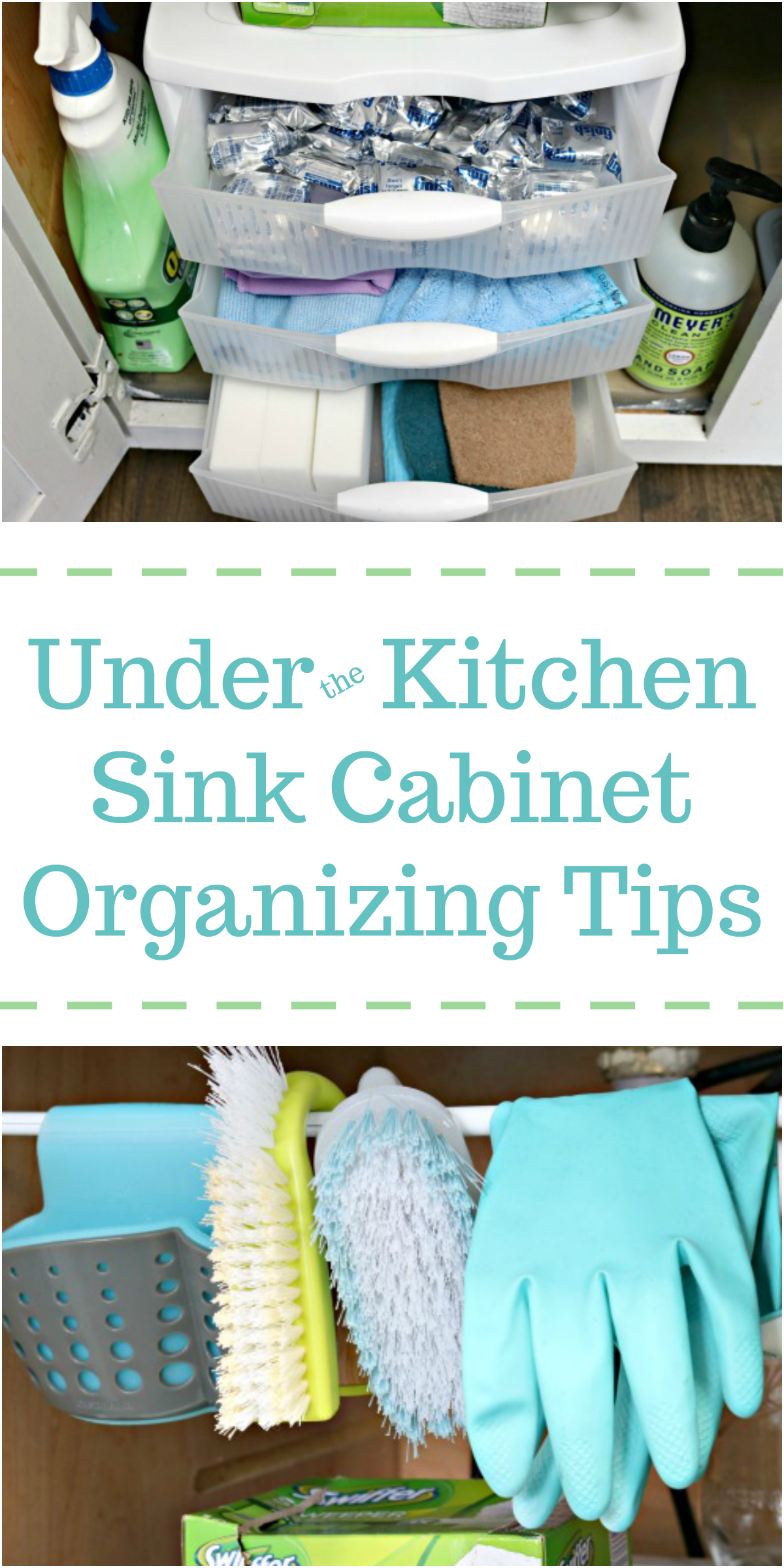 Under the Kitchen Sink Cabinet Organization Tips - Mom 4 Real