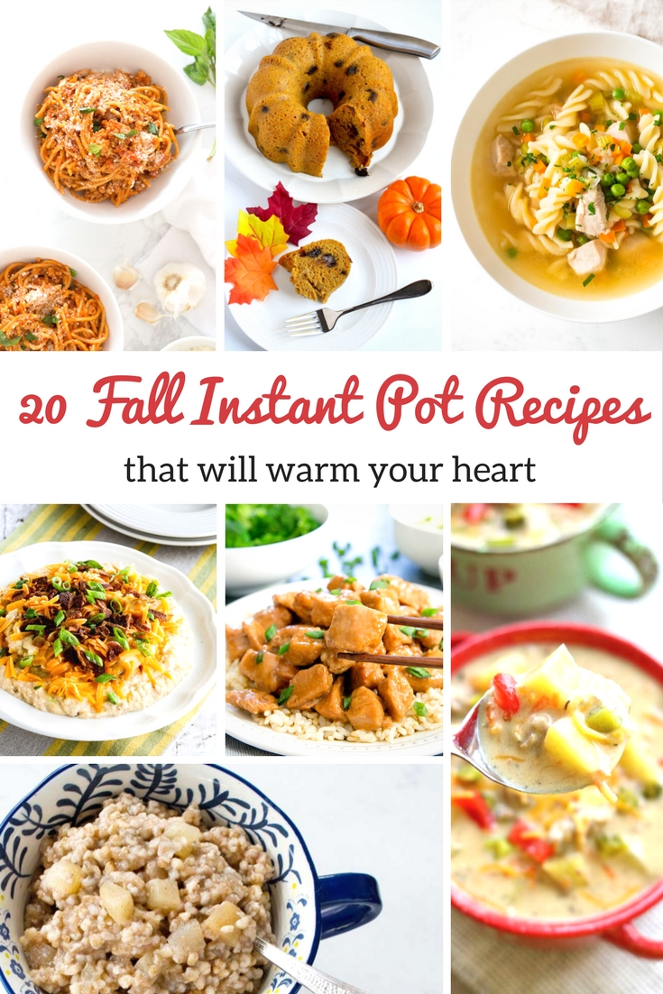 20 Quick and Easy Fall Instant Pot Recipes