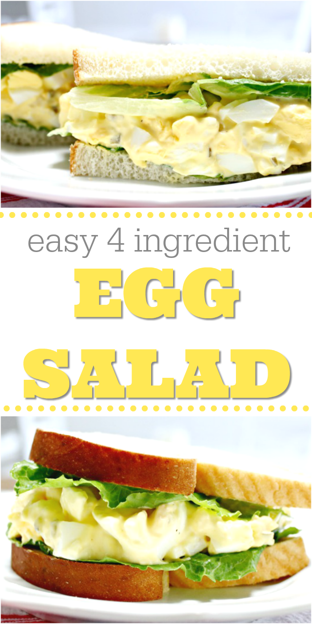 Easy 4 Ingredient Egg Salad Recipe