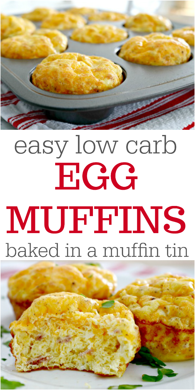 Easy Low Carb Egg Muffins Cooked in a Muffin Tin