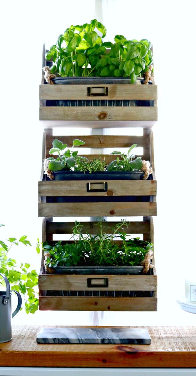 fixer upper style hanging herb garden