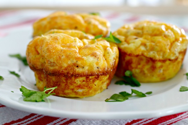 low carb ham and cheese egg muffins