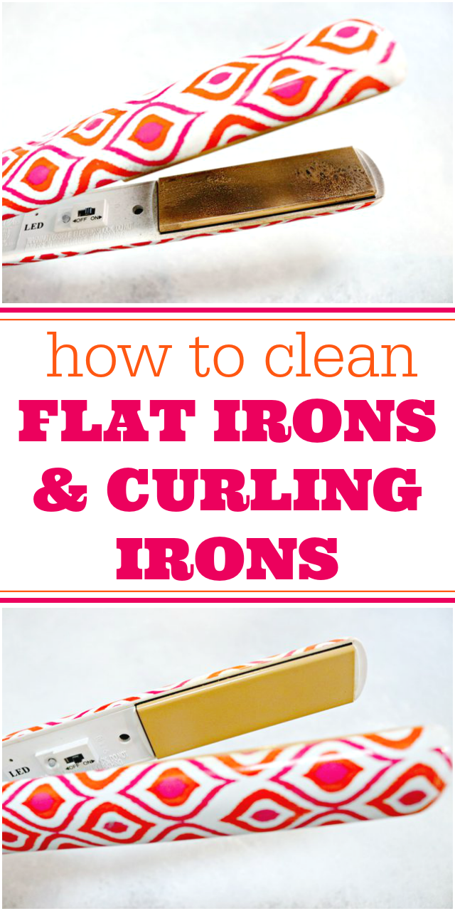 How to clean a flat iron and curling irons too!