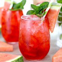 Watermelon Vodka Fizz Cocktail