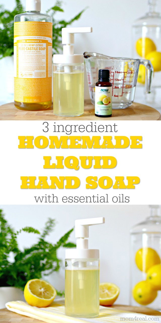 Easy 3 Ingredient Non Toxic Liquid Hand Soap Recipe