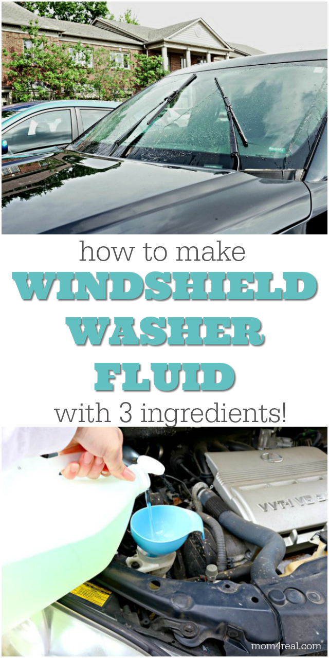 how to make windshield washer fluid with 3 ingredients