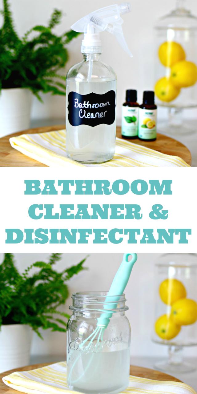 DIY Bathroom Cleaner Disinfectant