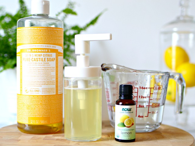 DIY hand soap ingredients