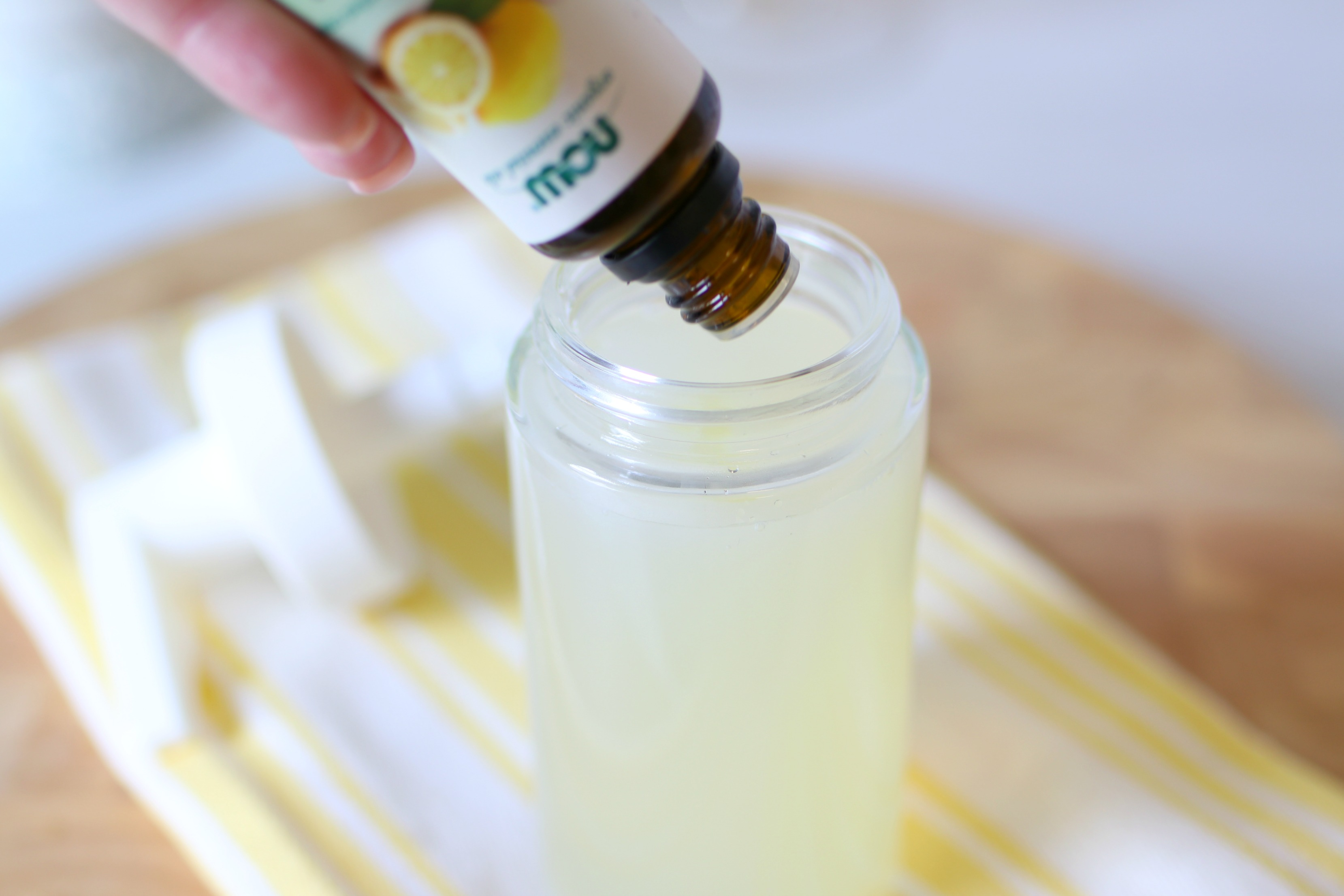 making liquid hand soap with essential oils
