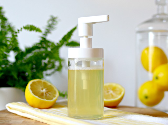 DIY Lemon Liquid Hand Soap