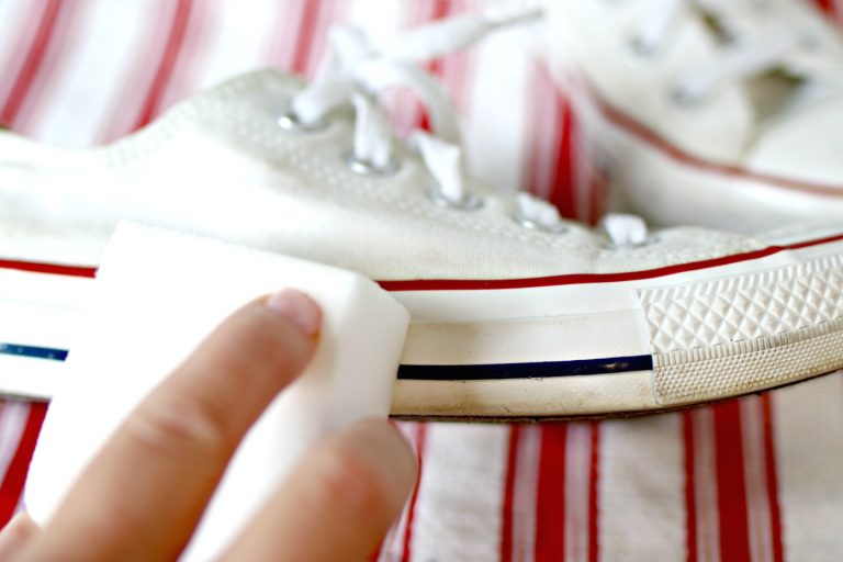 Clean shoes with Magic Eraser