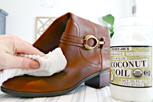 conditioning leather boots with coconut oil