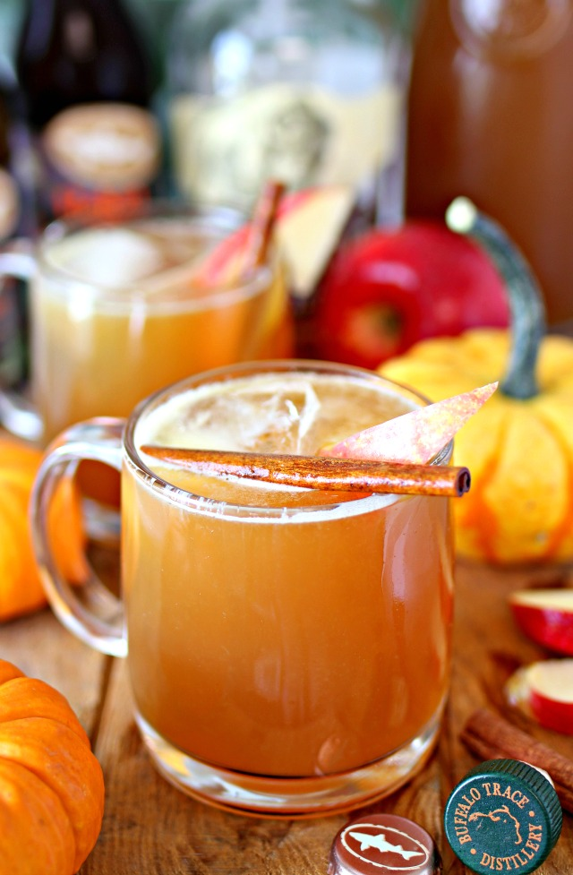 Pumpkin Beer and Bourbon Apple Cider Cocktail