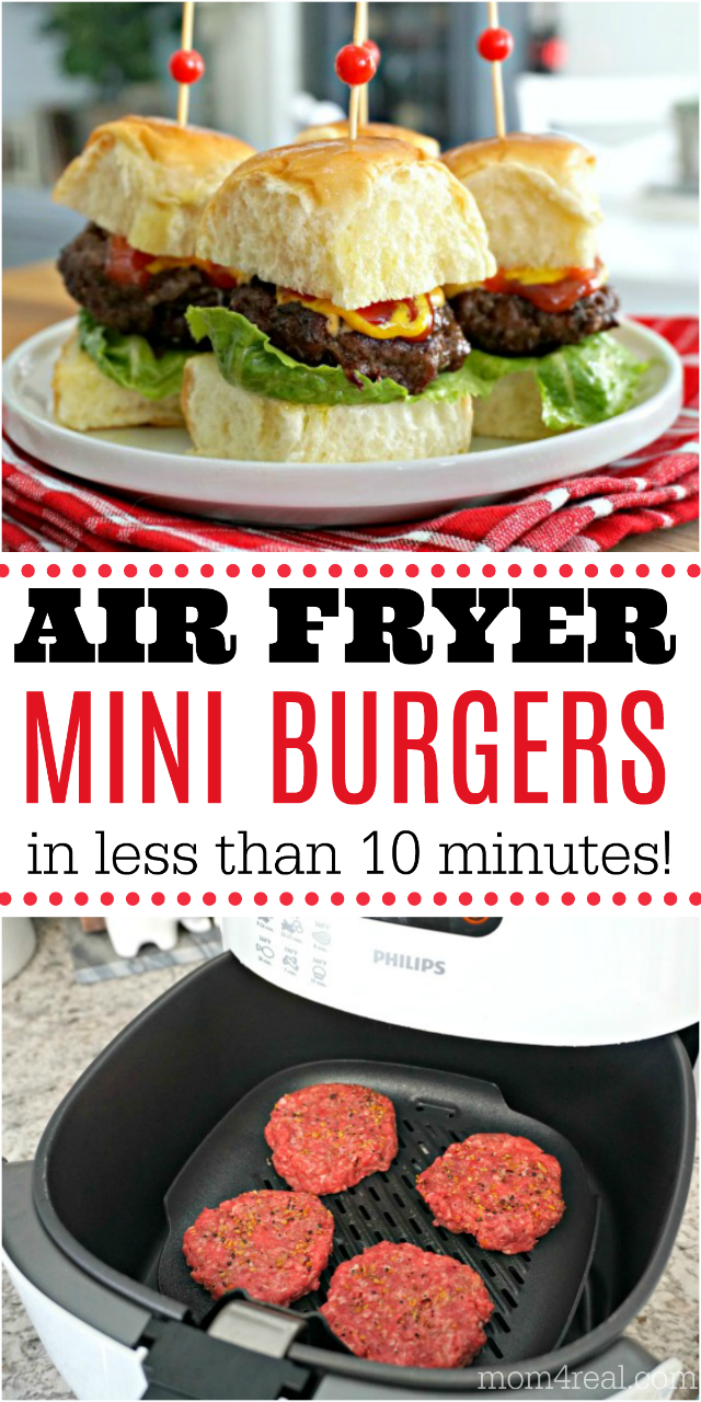 air fryer mini burgers