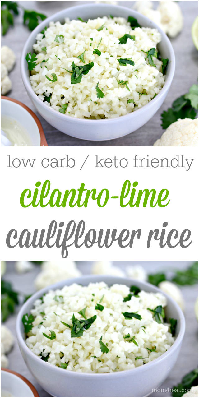 low carb keto friendly cilantro lime cauliflower rice