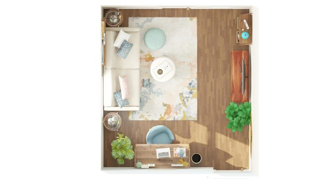 3D view of Modsy guest room design