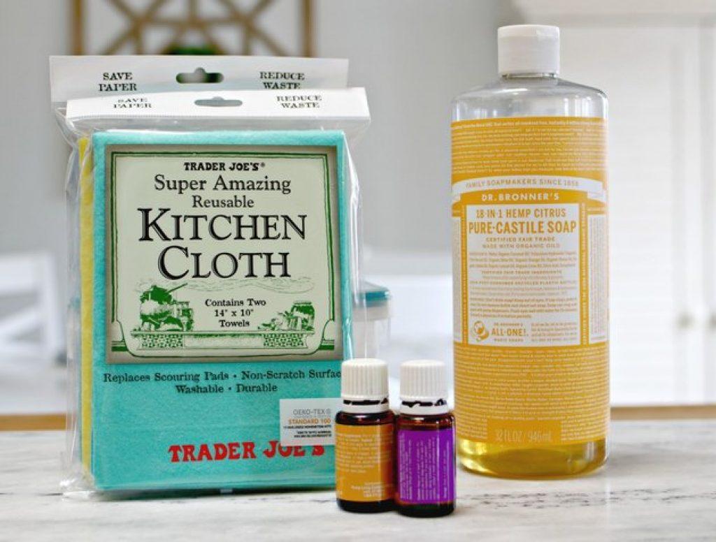 homemade bathroom cleaning wipes ingredients