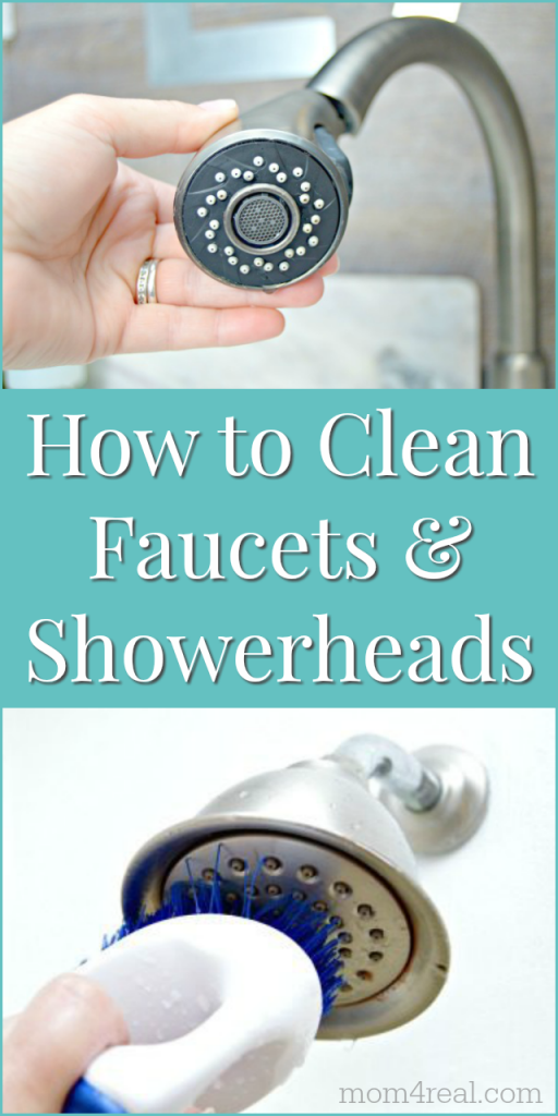 how to clean bathroom faucets and shower heads