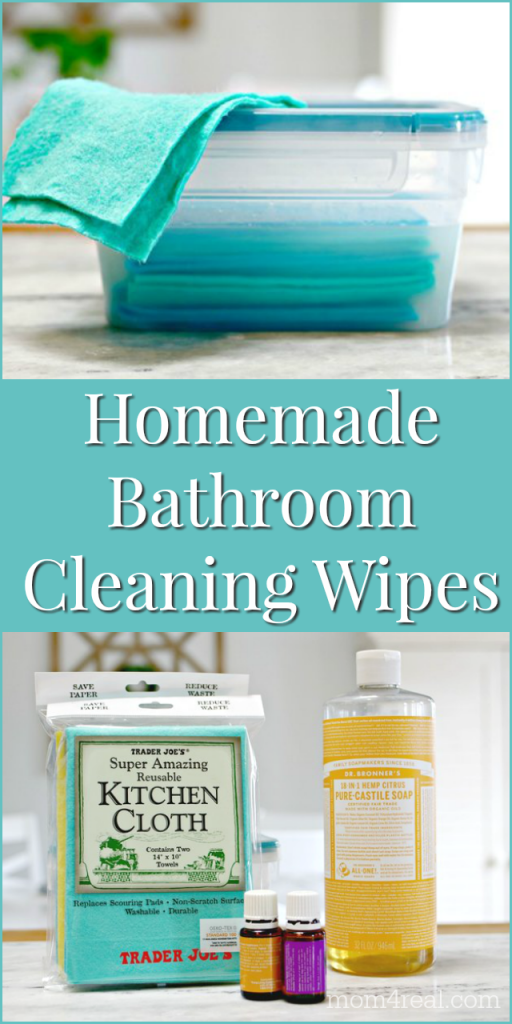 homemade reusable bathroom cleaning wipes