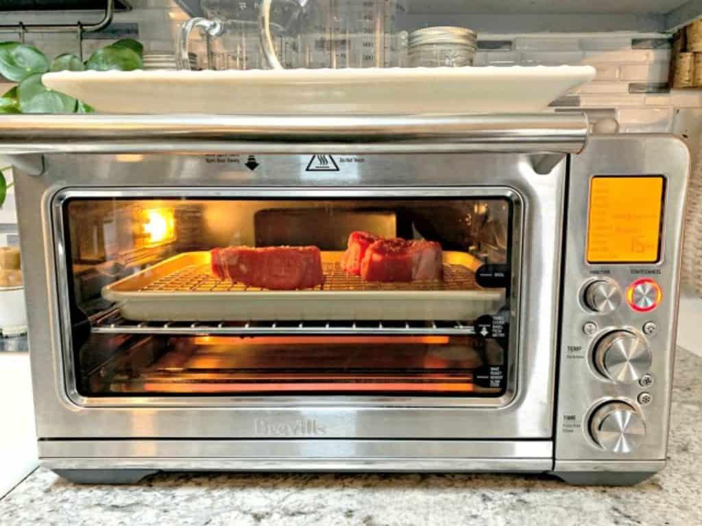 Breville Smart Oven Air cooking filet mignon